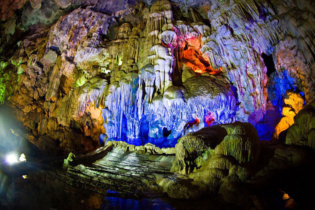 Thien Canh Son cave in Halong Bay, Vietnam Tours, Cozy Vietnam Travel