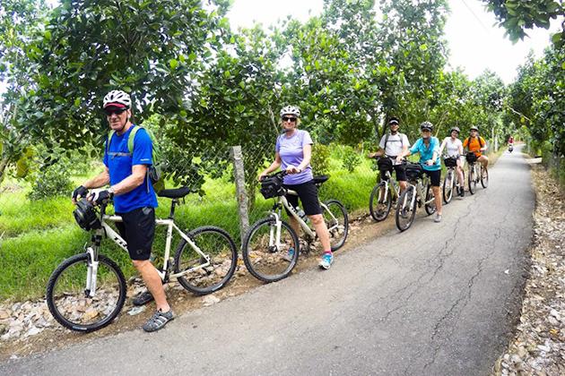 Cycling in Vinh Long, Mekong Delta Tours, Cozy Vietnam Tours, Vietnam Classic Tours