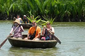 Boat Trip in Thu Bon River, Hoian, Vietnam