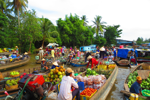 Cai Rang Floating Market, Mekong Delta Travel, Vietnam Tours, Cozy Vietnam Travel