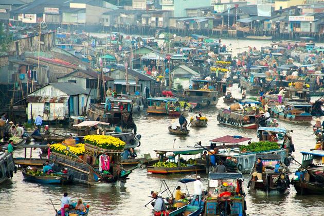Cai Rang Floating Market, Mekong Delta Travel, Cozy Vietnam Travel