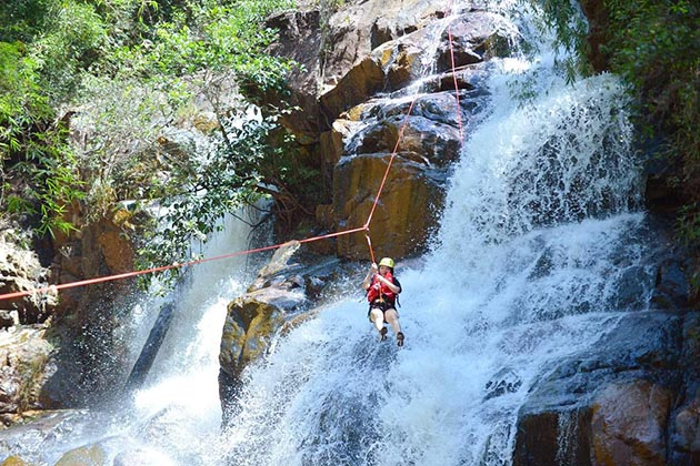 Conquering the Waterfall by Rope in Da Lat, Tours, Lam Dong, Tours, Cozy Vietnam Travel