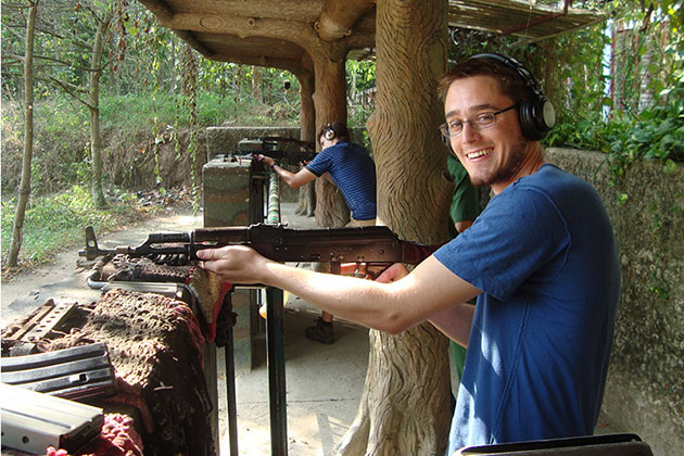 Cu Chi tunnel Gun shooting, Cozy Vietnam Travel