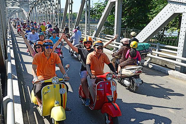 Vespa Twilight in Hue, Hue Tours, Vietnam Tours, Cozy Vietnam Travel