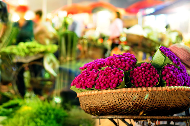 Quang Ba Night Flower Market, Hanoi, Tour, Cozy Vietnam Travel