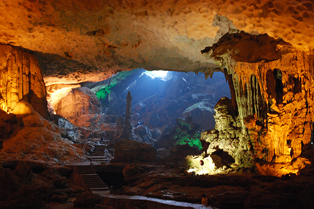 Sung Sot Cave in Halong Bay, Cozy Vietnam Travel
