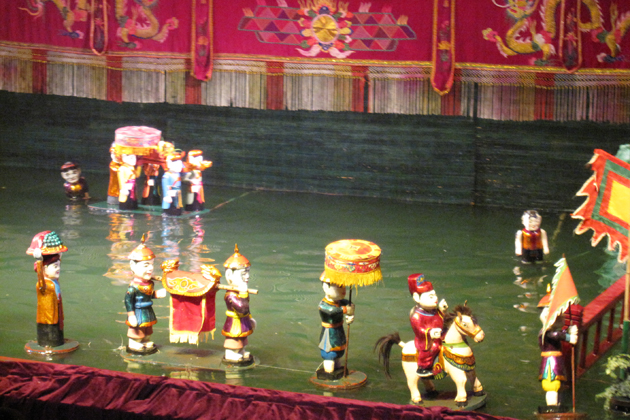 Water Puppet Show In Hanoi, Hanoi City Tours, Cozy Vietnam Travel