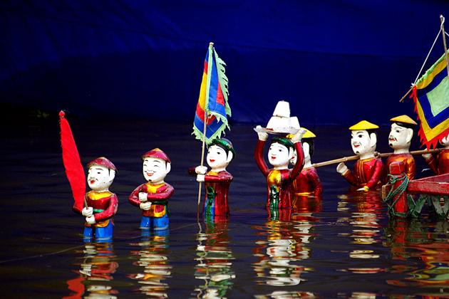 Water Puppet Show Hanoi, Hanoi Tours, Vietnam Tours, Cozy Package Tours
