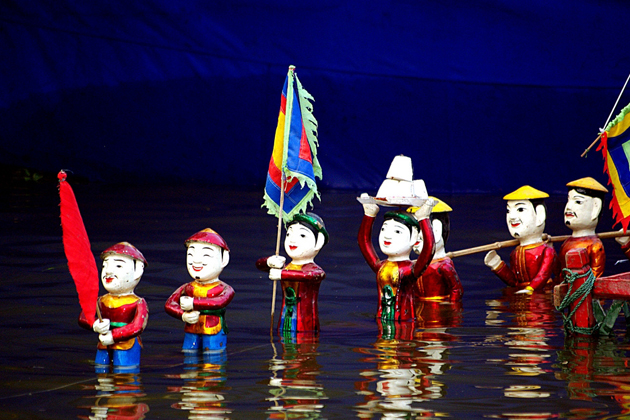 Water Puppetry Hanoi, Hanoi City Tours, Vietnam Tours, Cozy Vietnam Travel