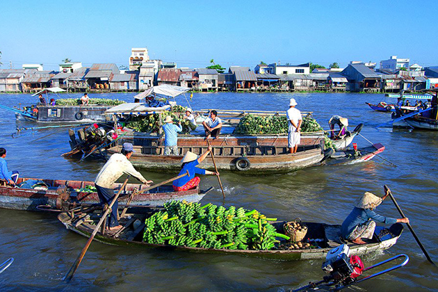 Cai Be Floating Market, Cozy Vietnam Travel, Vietnam Tours