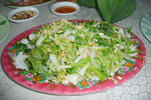 Garlic Salad in Ly Son Island Quang Ngai, Tours, Cozy Vietnam Travel