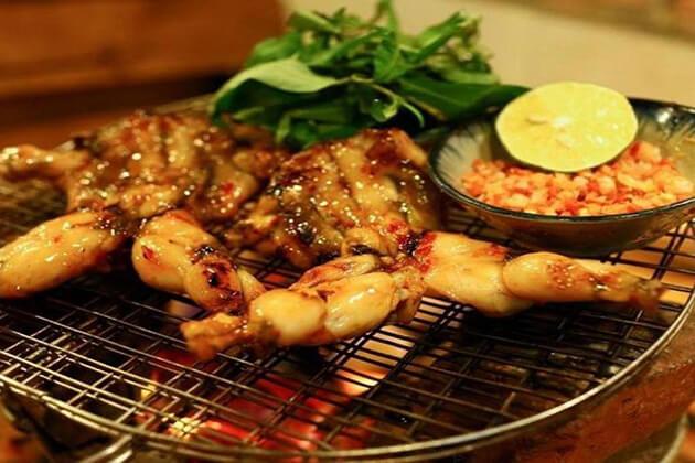 grilled frogs, Saigon Street Food, Cozy Vietnam Travel, Vietnam Tours