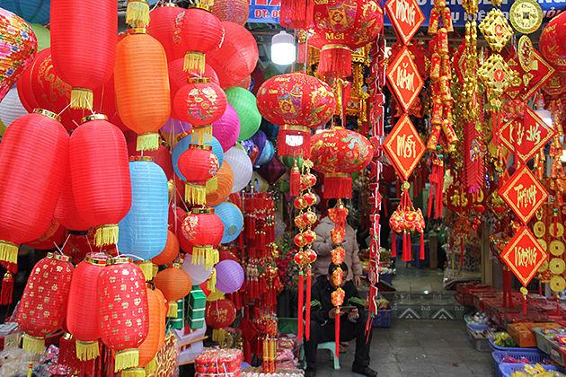 Hang Ma Street On Tet Holiday, Hanoi Tours, Cozy Travel