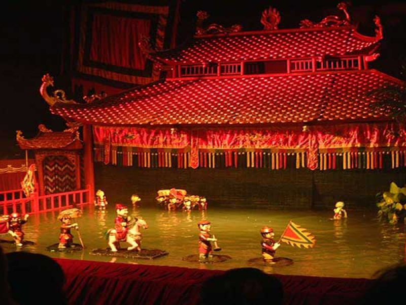 Water puppet show in Hanoi, Cozy Vietnam Travel, Vietnam Tours