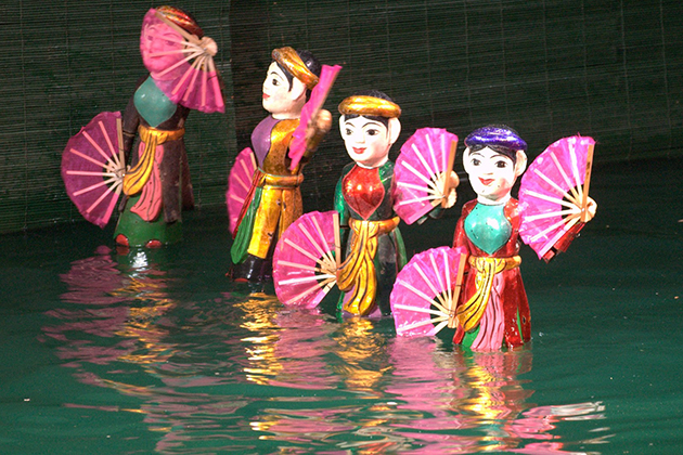 Water puppet Show, Cozy Vietnam Travel, Vietnam Tours