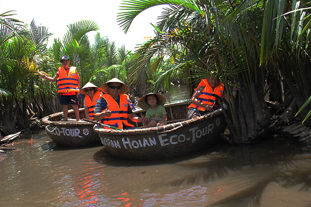 hoi an eco tour on basket boat, Hoi An City Tours, Cozy Vietnam Local Tours