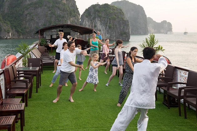 Tai Chi Lesson Halong Bay, Cozy Vietnam Travel, Vietnam Tours