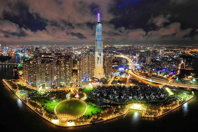 Beautiful at Night in Landmark 81, Ho Chi Minh, Travel, Cozy Vietnam Travel