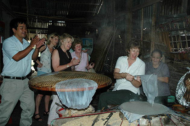 Making Rice Paper at-mekong Delta, Cozy Vietnam Travel