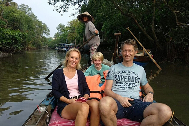 Mekong-delta-boat-trip-with family