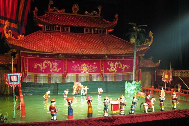 Water puppet show, Hanoi City Tours, Cozy Vietnam Tours