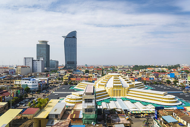 Phnom Penh city, Indochina tour