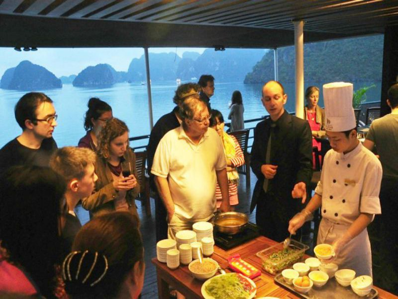 cooking class on cruise in halong bay vietnam, Cozy Vietnam Travel, Vietnam Travel