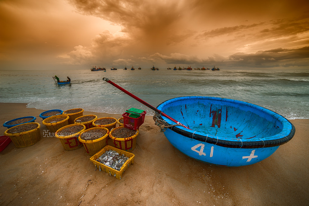 Sunset in Phuoc Hai Fishing Village, Vietnam Travel, Cozy Vietnam Travel