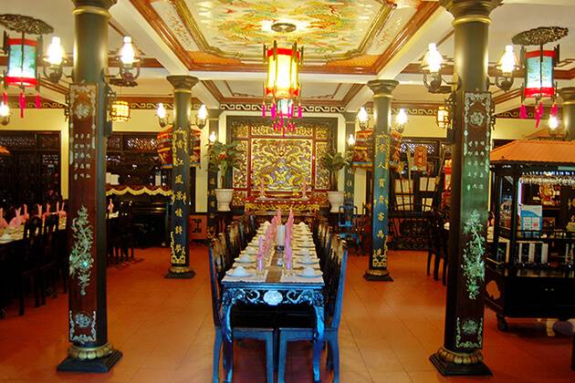 Royal park restaurant in Hue, Vietnam, Cozy Travel
