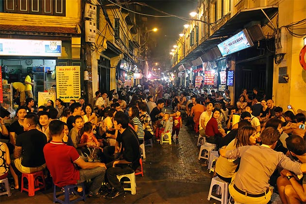 Street Food Hanoi Old Quarter, Hanoi City Tours, Cozy Vietnam Travel