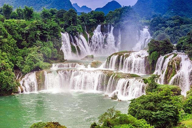 Ban Gioc Waterfall in Cao Bang, Cao Bang Tour, Cozy Vietnam Travel