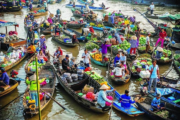 Cai Be float market, South of Vietnam