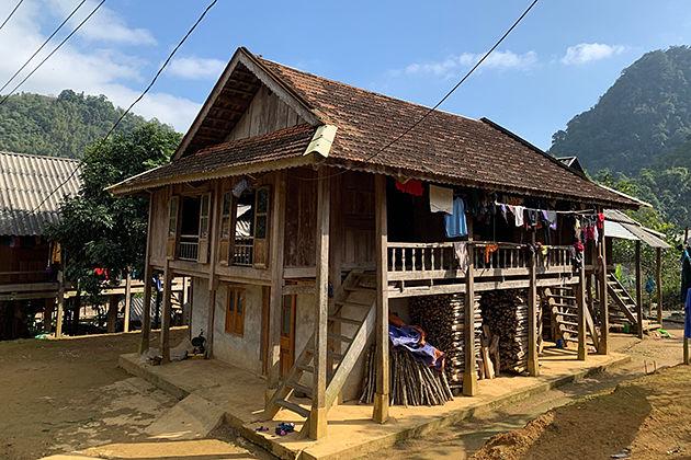 stilt house of Thai people, Cozy Vietnam Travel