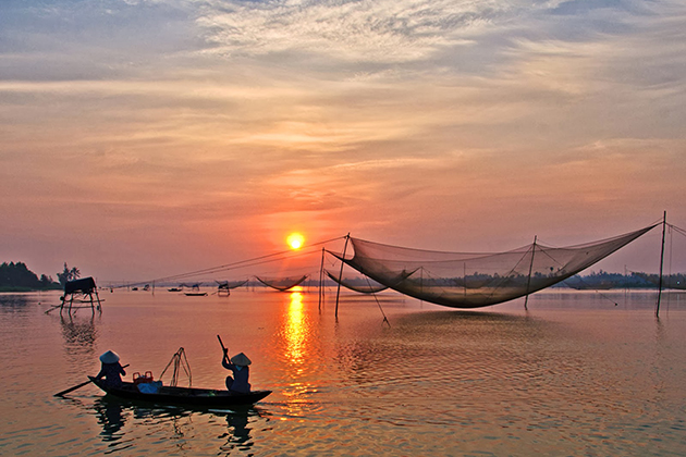 Sunset in Cua Dai Beach, Hoi an Travel, Cozy Vietnam Travel, Vietnam Tours