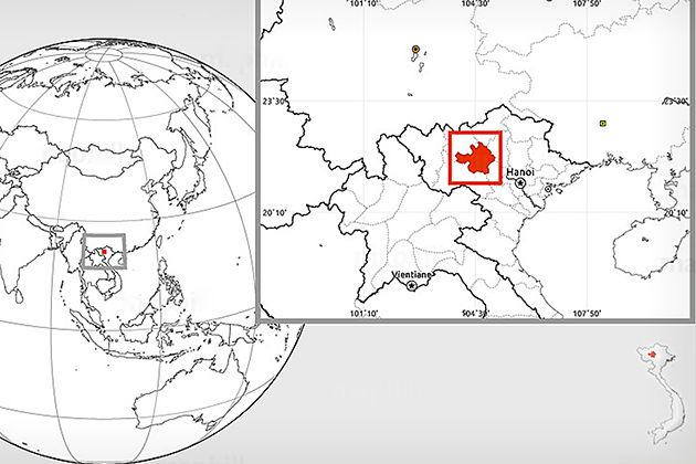 Yen Bai Map, Yen Bai Tours, Vietnam, Cozy Vietnam Tour
