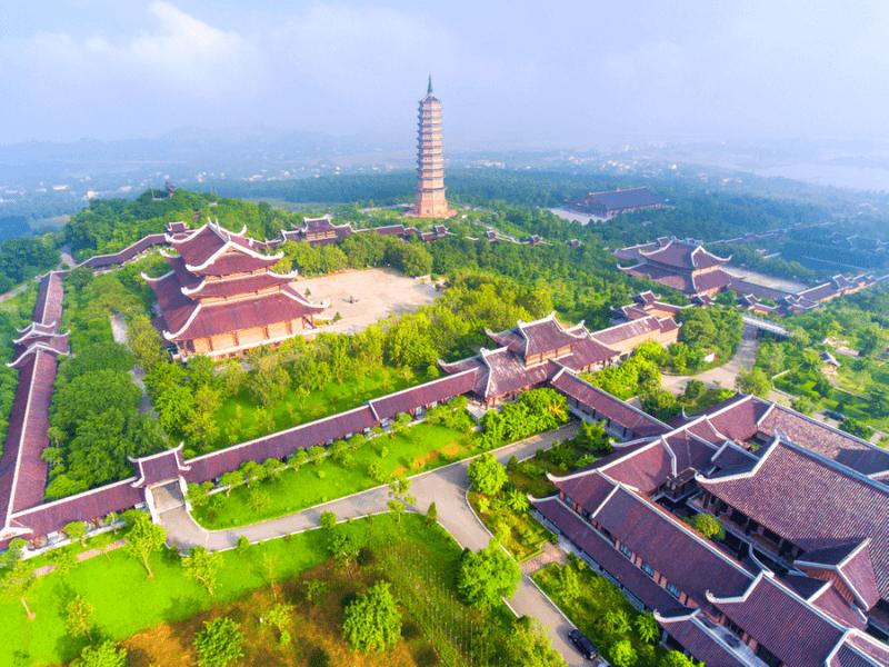 Overview Bai Dinh Pagoda, Vietnam Tours, Cozy Vietnam Travel