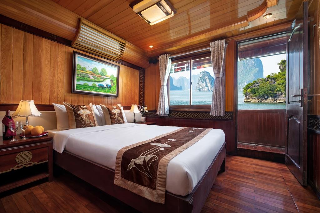 Cozy Bay Cruise double room, halong bay cruises, tours in halong bay