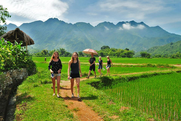 Walking in Mai Chau, Cozy Vietnam Travel