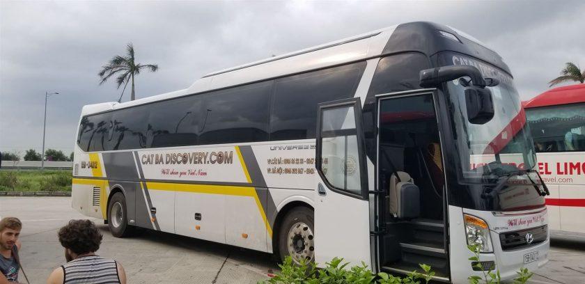 Hanoi to Cat Ba Discovery bus